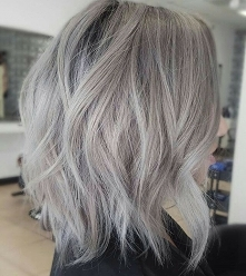 grey lob hair cut