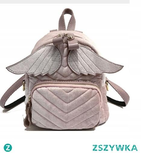 Świetny plecak ze skrzydłami, przyjemny welurowy materiał. Ten plecak to MUST HAVE sezonu! <3 Kliknij w zdjęcie i zobacz gdzie kupić! :)