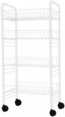 Timelife Wózek Z Miejscem Do Przechowywania, Biały