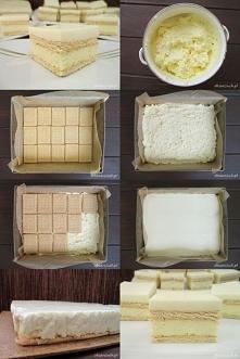 Ciasto kokosowo - cytrynowe bez pieczenia  Wymiary formy: 24x28 cm Składniki:...