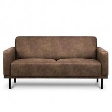 Sofa 2 dwuosobowa BARO jasny brąz