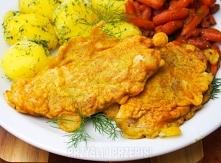 Ryba / dorsz w cieście curry  4 filety, u mnie dorsz 10 łyżek mąki 1 jajko 1,5 łyżeczki curry 100 ml mleka sól, pieprz olej       1. Filety posypujemy solą i pieprzem. Mąkę, jaj...