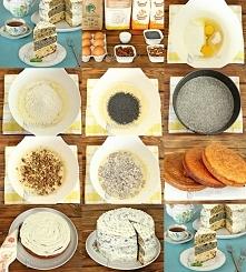 Ciasto z makiem, orzechami i rodzynkami  Торт с маком, орехами и изюмом    W ...