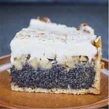 Jabłkowo makowy tort z cynamonem i bitą śmietaną  Apfel-Mohn-Kuchen mit Zimt-...