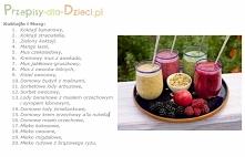 20 pomysłów na smaczne i zdrowe koktajle.