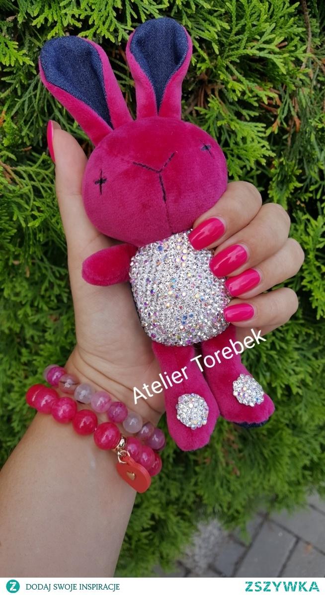 brelok królik kryształki Swarovski Fb/Atelier Torebek - torebki damskie