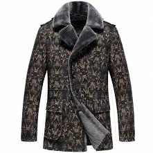 Mens Sheepskin Coat | CWMALLS® Manchester Mens Sheepskin Pea Coat CW808205 [C...