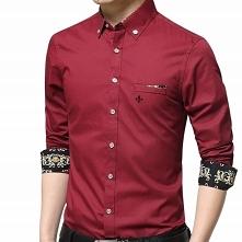 Stylowa koszula męska casua...