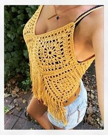 crochet top , boho top