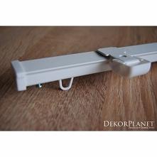 Kompletna szyna sufitowa aluminiowa ZS-100 Creativa to wysokiej jakości jednotorowa szyna wykonana z aluminium pomalowana białym lakierem proszkowym. Model karnisza szynowego do...