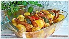 Marynowany schab pieczony w warzywach  Składniki 600 g schabu bez kości Maryn...