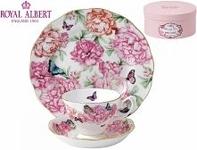 Royal Albert 3 częściowy komplet (filiżanka + spodek + talerzyk deserowy) - G...