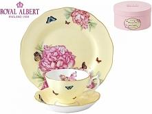 Royal Albert 3 częściowy komplet (filiżanka + spodek + talerzyk deserowy) - J...