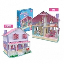 Puzzle3D Domek dla lalek Carrie - DARMOWA DOSTAWA OD 199 ZŁ!!!