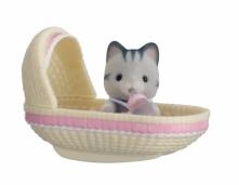 Sylvanian Families Przenośny zestaw dla dziecka (kotek w kołysce) 5198