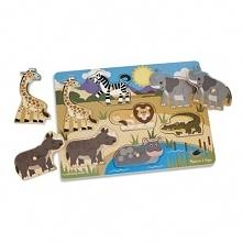 Puzzle drewniane z uchwytami MELISSA & DOUG Safari 19054