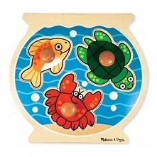 Puzzle drewniane MELISSA & DOUG Puzzle Fish Bowl Large Peg 12056