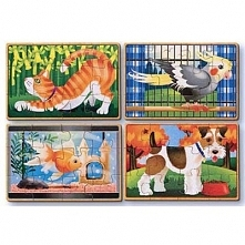 Puzzle drewniane MELISSA & DOUG Zwierzęta domowe 13790