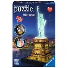 Statua Wolności nocą Puzzle 3D RAVENSBURGER