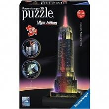 Empire State Building nocą Puzzle 3D RAVENSBURGER