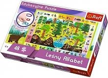 48el. edukacyjne Leśny Alfabet (15520 TREFL)