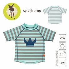 Lassig - Koszulka T-shirt do pływania Striped aqua, UV 50+, rozm. 24-36mcy
