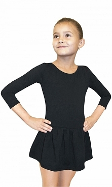 Bodysuit Girls 3/ Sleeve Leotard With Skirt r. 128