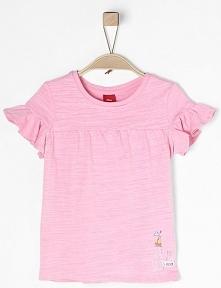 S.Oliver T-Shirt Dziewczęcy 104 - 110 Jasnoróżowy