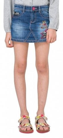 Desigual Spódnica Dziewczęca Gargalla 116 Niebieski