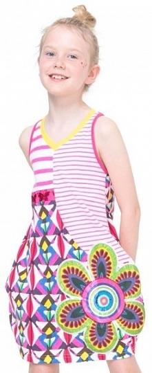 Desigual Sukienka Dziewczęca Jartum 152 Wielokolorowy