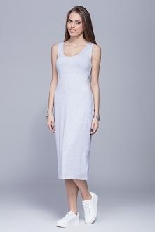 Sukienka na grubych ramiączkach typu basic.