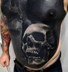 super tatuaż czaszka
