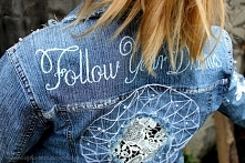 Kurtka jeansowa handmade z ...