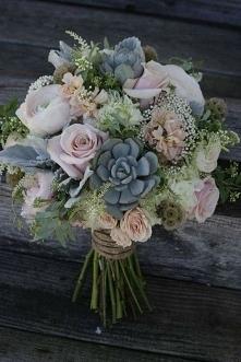 Róże i sukulenty
