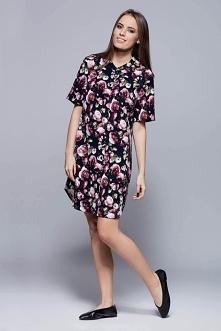Koszulkowa sukienka z krótkim rękawem