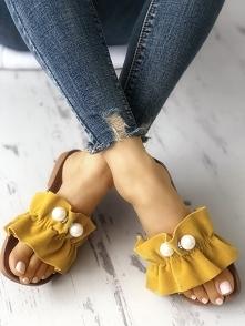 Beaded Embellished Open Toe Flat Sandals Rozmiar: US4.5, US5.5, US6, US7, US8 Kolor: yellow