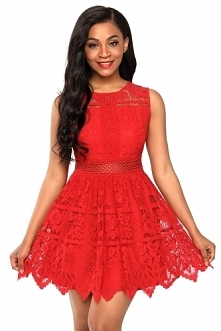 Sukienka czerwona idealna n...