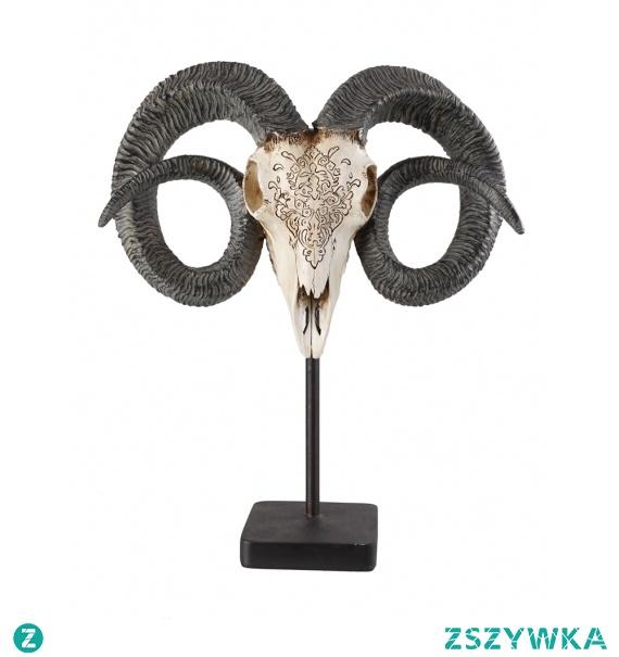 Poroże głowa na stojaku do dekoracji #poroże #rzeźba