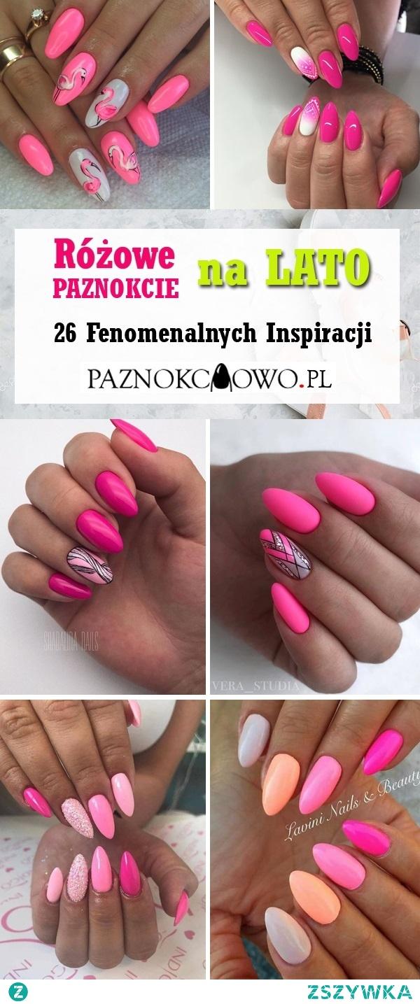 Różowe Paznokcie na LATO: TOP 12 Dziewczęcych Inspiracji na Różowe Paznokcie