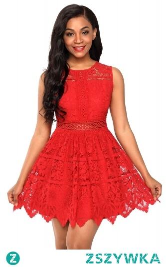 Sukienka czerwona idealna na wesele