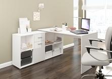 Narożne biurko z komodą - różne kolory - NOWOŚĆ -