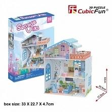 PUZZLE 3D Domek dla lalek Seaside Villa - DARMOWA DOSTAWA OD 199 ZŁ!!!