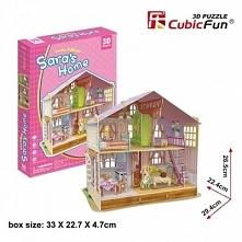 Puzzle 3D Domek dla lalek Sara's Home - DARMOWA DOSTAWA OD 199 ZŁ!!!