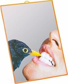 Lustro Seletti Wears Toiletpaper średnie Crow