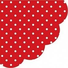 PAW Serwetka Dots dark red R SDR066023