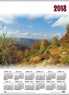 Plakat Polski Kalendarz plakatowy mały Krajobraz 2018