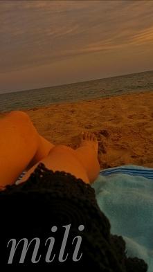 o zachodzie słońca:)