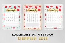 Darmowe kalendarze-planery na sierpień! Szczegóły jak pobra na blogu!