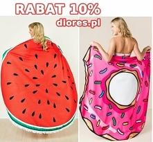 #Ręczniki na plażę donut i arbuz teraz z kodem Lato10 - 10% taniej!