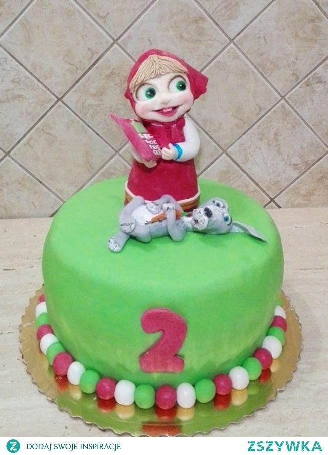 tort 2 urodziny - Masza
